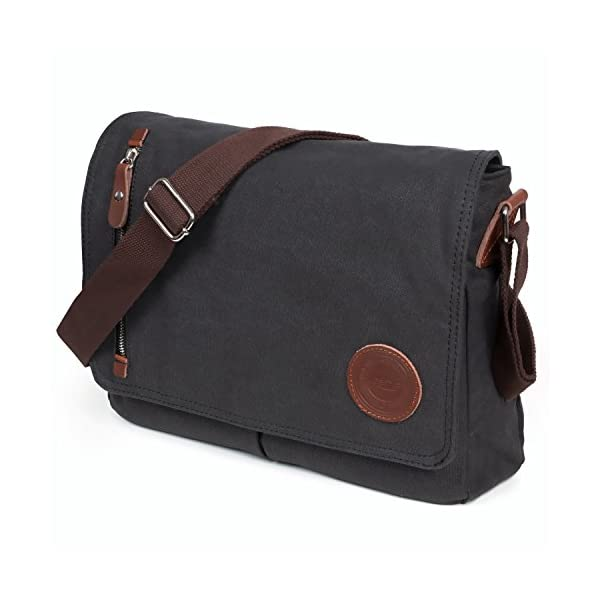 fe32f58124 LOSMILE Mens Canvas Messenger Shoulder Bag.