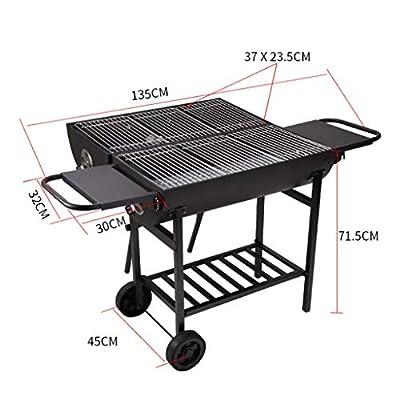 Zxb-shop Holzkohle-Grillwagen mit Haushalt 5 oder mehr Grillstellen Garten Holzkohle Grill Camping Grill Regal Holzkohle-Grill
