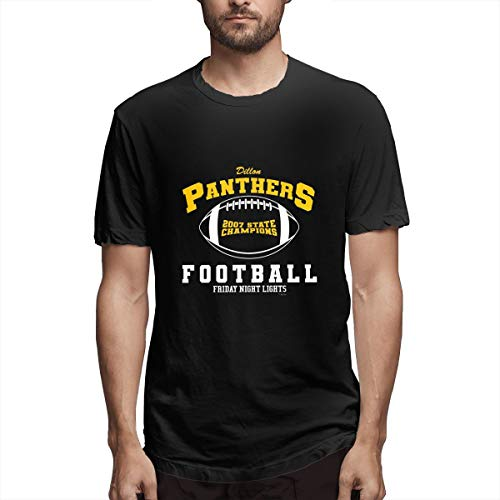 Scottdstalter Herren Kurzarm Fashion Tees Friday Night Lights Dillon Panthers Black XXL Funky T-Shirt -