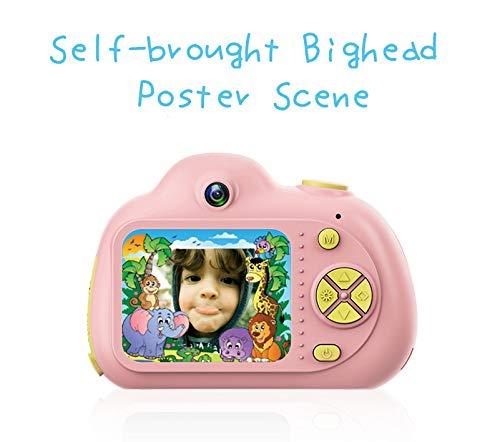 Jiadi Kinder Kamera Recorder Geschenke Kinder Kompaktkamera Spielzeug 8 MP HD Videokamera Front- und Rückkamera für Kinder im Alter von 3-10 Jahren Osd-video-recorder