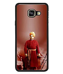 PrintVisa Designer Back Case Cover for Samsung Galaxy A3 (6) 2016 :: Samsung Galaxy A3 2016 Duos :: Samsung Galaxy A3 2016 A310F A310M A310Y :: Samsung Galaxy A3 A310 2016 Edition (Swami Vivekanada Design In Red)