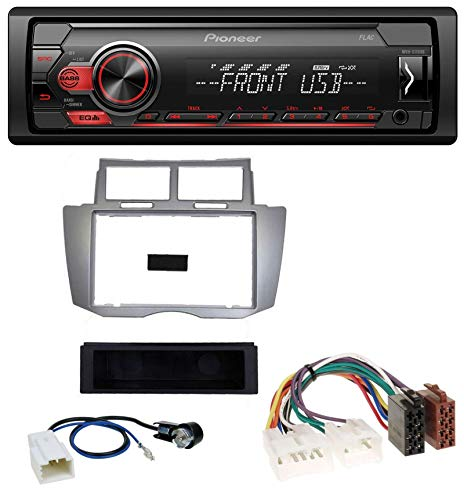 caraudio24 Pioneer MVH-S110UB AUX MP3 USB 1DIN Autoradio für Toyota Yaris (2007-2011)