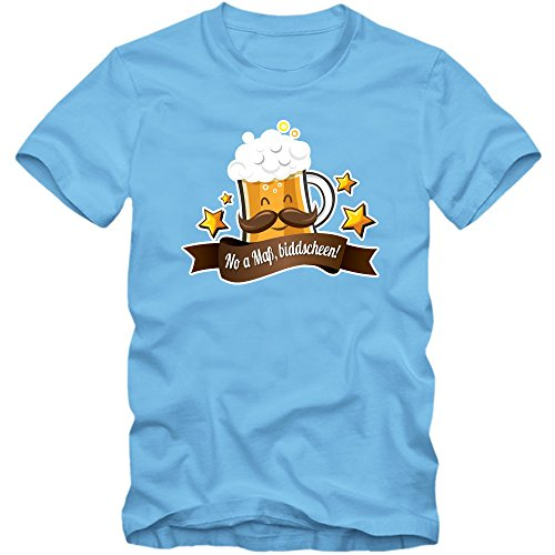 Oktoberfest 'No A Mass' T-Shirt |Herren | Wiesn | Bayern | Volksfest | Feiern | Spruch-Shirt |Bier © Shirt Happenz Hellblau (Skyblue L190)