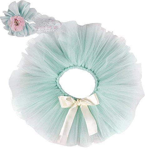 dchen 2er Bekleidungsset (Rock Stirnband), Kostüm für Neugeborenes, Hellgrün, 3-4 Monate ( Herstellergröße: M) (Kostüme Ma)