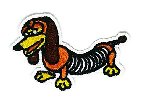 (Braun Dackel Hund Tier cartoon bestickt Nähen Eisen auf Patch Cartoon Nähen Eisen auf bestickte Applikation Craft handgefertigt Baby Kid Girl Frauen Tücher DIY Kostüm Zubehör)