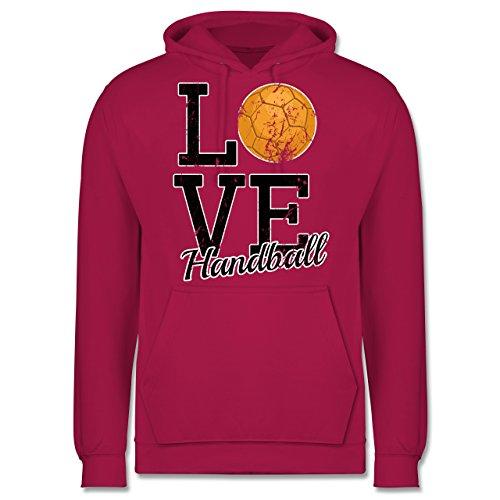 Handball - Love Handball - Männer Premium Kapuzenpullover / Hoodie Fuchsia