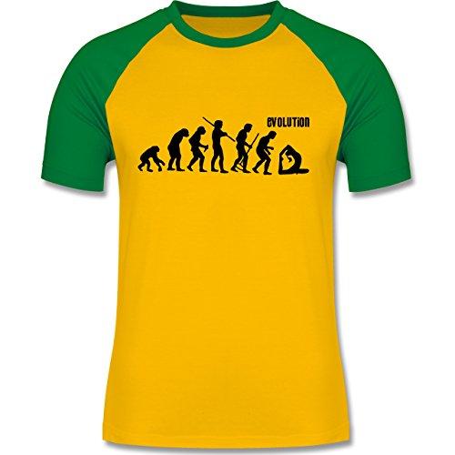 Shirtracer Evolution - Yoga Evolution - Herren Baseball Shirt Gelb/Grün