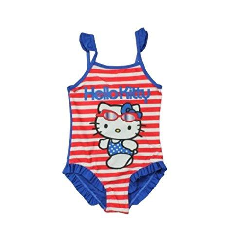 Hello Kitty Badeanzug Kollektion 2018 Badesachen 92 98 104 110 116 122 128 Mädchen Schwimmbekleidung Sommer (Rot, 104-110)