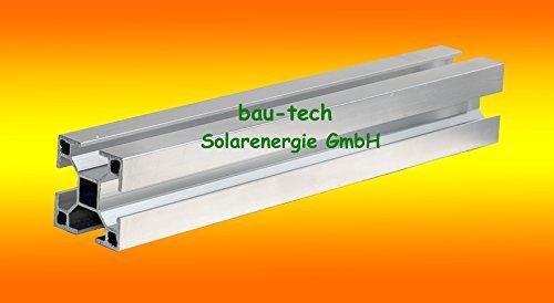 2 Meter Montageprofil 40 x 40mm von bau-tech Solarenergie