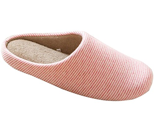 Minetom D'hiver Slippers Bande Doux Chaud Chaussons Pantoufles En Velours Corail Confortables Légers Homme/Femme Pour Maison EUROPE Taille