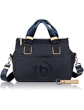 bugatti Ladies Lido - Damen-Handtasche mit RFID Fach, navy blau + Schlüsselanhänger