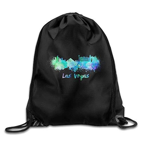 HiExotic Eco-Friendly Turnbeutel Hipster Las Vegas Skyline Gym String Bag Drawstring Backpack Tote Sack Bag (Vegas Partys In Für Halloween Las)