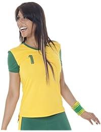 Zumba Fitness Damen Top Brazil Soccer Ringer Tee