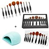 Cossa-Professional-Multipurpose-10-Pcs-ToothBrush-Shape-Fine-Fiber-Makeup-Brushes-Set