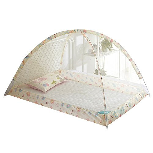 Mosquito Net Baby Travel Cama Cuna Pop Up Tent, Accesorios plegables portátiles para cama infantil, Travel Kids Tent, Tienda de playa, Instalación libre, Tamaño grande, Beige