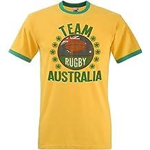 Team Australia Rugby Mens Retro T-Shirt Camiseta Para Hombre Perfect for World Cup