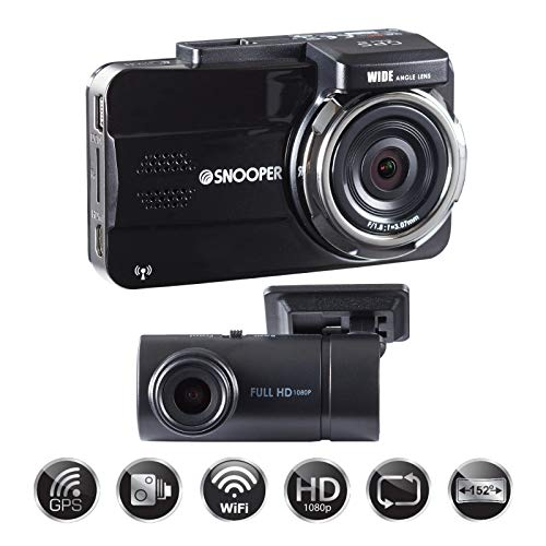 Snooper DVR-5HD G3 Full HD 2 Channel Dash Camera with Speed Alerts and WiFi