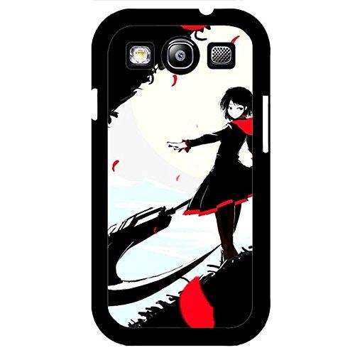 Coque Samsung Galaxy S3 I9300 Phone Case RWBY Noir Theme Red Girl Unique Design Cover,Cas De Téléphone