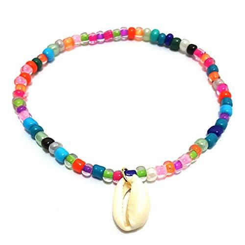 Sevenfly Bunte Perlen Böhmischen Barfuß Sandale Strand Fuß Kette Fußkettchen Knöchel Armband Schmuck Zubehör Für Frauen Mädchen (Farbe)