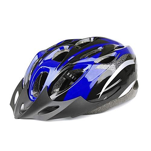 DAZISEN Ultraleichter Fahrradhelm für Erwachsene - Herren Damen Teenager Sport Outdoor Bike Skating Sicherheit Allround Helm, Blau Schwarz