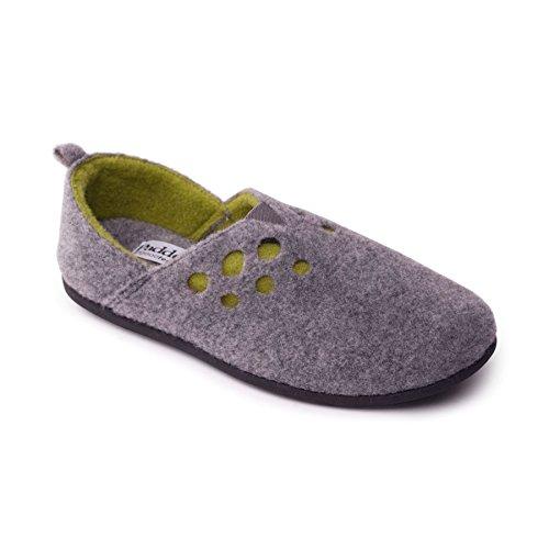 Padders donne sentivano scarpe 'Riva'   con sistema di regolazione a doppia larghezza   Extra Large Larghezza EE-SEE   15 millimetri tallone   calzascarpe libero Grigio