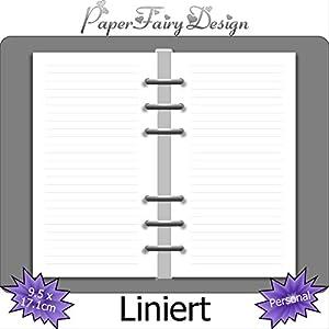 Kalendereinlagen - Personal (9.5cm x 17.1cm) - Liniert - 120g Premium Papier