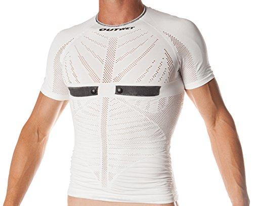 Outwet HCEP2 - Camiseta interior con manga corta para hombre, color blanco, talla S-M