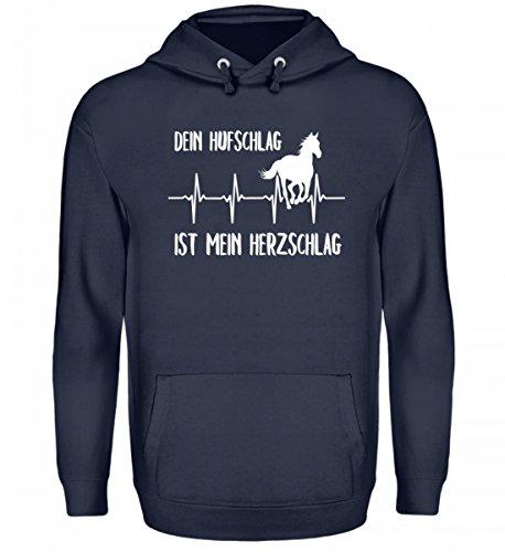 Shirtee Reiter Reiten Pferde Spruch Pullover Damen Dein Hufschlag Ist Mein Herzschlag Geschenk Pulli Pferdeliebhaber