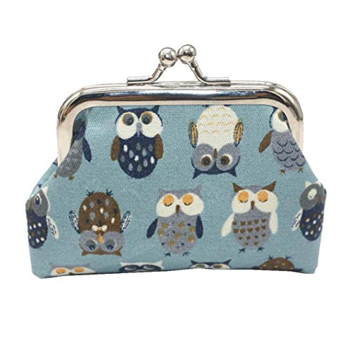 EUzeo Women's Owl Coin Purse Money Bag Change Card Holders Small Wallet Clutch Purse