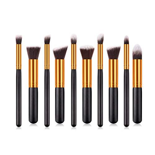 Makeup Pinsel Set, ChsheTM 10 Stück Kosmetik Mit Synthetisches Haar Pinselset Kosmetik Kabuki Foundation Blush Eyeshadow Eyeliner Kompaktpuder Abdeckcremes Die Schönheit Tools