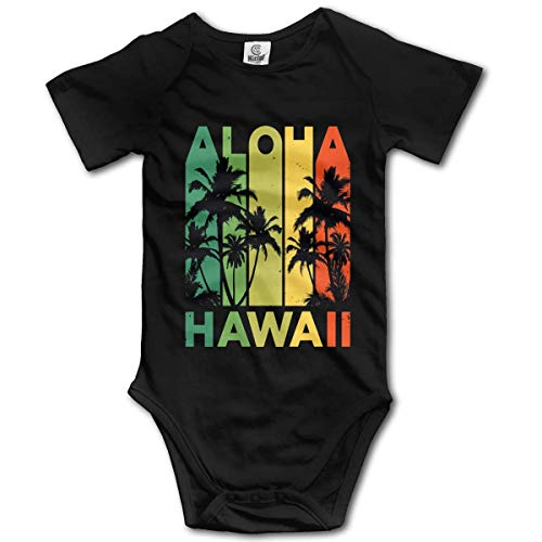 3d99ab81520c EEPPFBBMMD Vintage Hawaiian Islands Tee Hawaii Aloha State Baby Short  Sleeves Triangle Romper Bodysuit Onesies Infant