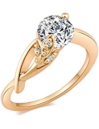 Ruvee Rising Star From The Spring Gold Plated Diamond Ring For Girls & Women