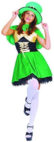 Damen Kostüm Kobold - KULTFAKTOR GmbH Süsser Kobold Damenkostüm Märchen grün-Gold M