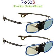 Boblov occhiali 3D wireless ricaricabile per proiettori DLP-LINK film 3D videogiochi TV PC cinema(2 lotti, rx-30s)