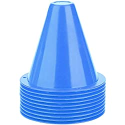 Alomejor 10 stücke Fußball Marker PE Sporttraining Verkehrskegel für Kinder Heim Gym Gym(Blau)