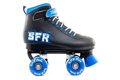 SFR Vision II Kinder Rollschuhe, Mehrfarbig (Schwarz / Blau), 29 EU