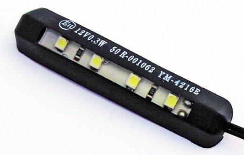 ShinYo LED Nummernschildbeleuchtung biegbar selbstklebend schwarz, Multipurpose, Ganzjährig, Kunststoff