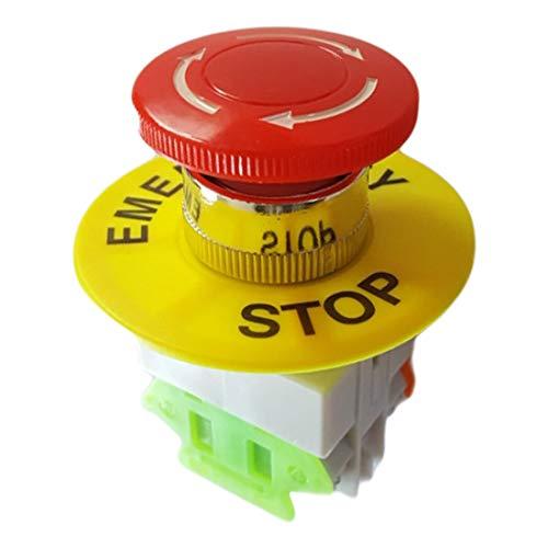 Description du produit  Trou de montage de 22mm, type de contact 1NO +1 NC, capuchon champignon rouge, bouton-poussoir pour arrêt d'urgence.  Largement utilisé pour contrôler le démarreur électromagnétique, le contacteur, le relais et les autres circ...