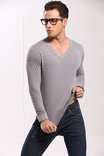 gli uomini sono le t - shirt / collo stile respirabile materiale biancheria termica piena manica giubbotto adatto per l'inverno, outdoor, viaggio in campeggio e abbigliamento da sci grey shirts