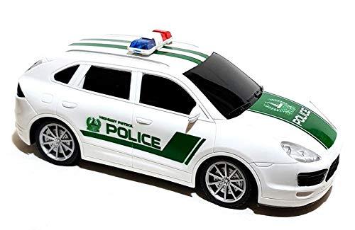 ambestore Polizeiauto Ferngesteuert Spielzeugauto Police Polizei Car Rc Auto Spielzeug Kinderspielzeug LED Licht Musik Inclusive Batterien