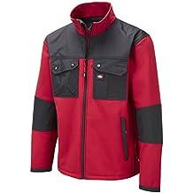 Lee Cooper LCJKT438 - MENS SHOFTSHELL WORKWEAR JACKET - RED - XXLARGE - De Hombres Soft Shell Jacket Trabajo - Rojo, 2X-Large