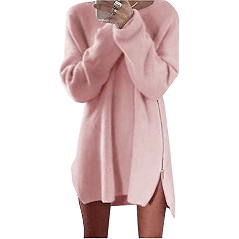 Xinantime Maniche Lunghe Cappotto Pullover a maglia Maglioni Vestito Inverno Donna Tops Sweatshirt (L, grigio)