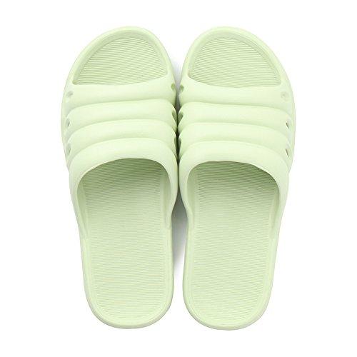 DogHaccd pantofole,Pantofole estate giovane uomini e donne home trascinare la luce interna morbida di balneazione balneazione bagno anti-skid resistente ai fenomeni di usura home sandali Verde chiaro