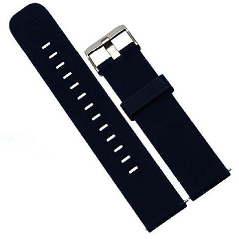 Für Men's 42mm MOTO 360 2nd Watch/Samsung Galaxy Gear S2 Classic R732/Ticwatch 2 Transer® Ersatz Uhrenarmbänder+2 Pins Bandbreite: 20mm (dunkelblau)