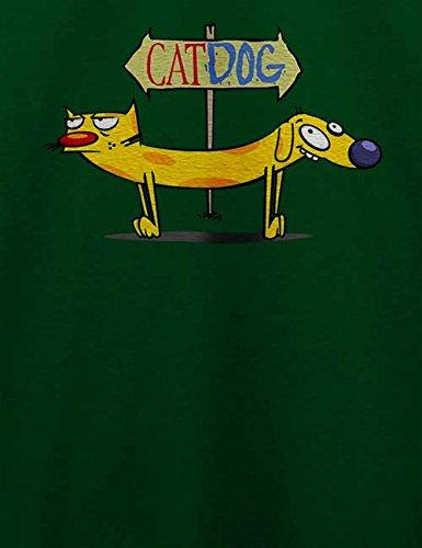 Cat Dog T-Shirt Dunkel Grün
