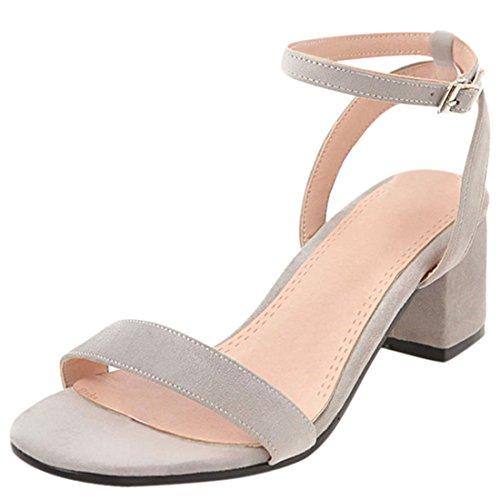 Artfaerie Damen Mittel Absatz Slingback Sandalen mit Schnalle und Blockabsatz Ankle Strap Bequem Pumps Offen Schuhe (Strap Pump Schuhe)