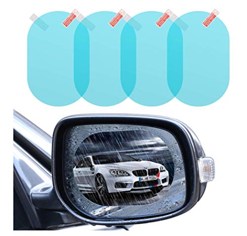 Protecteur de Film imperméable pour rétroviseur de Voiture, Conduisez en Toute sécurité HD Clear Film Nano de revêtement de revêtement imperméable pour rétroviseur et vitre latérale d'automobile,M