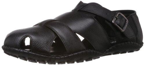 8d54f90d9c7 Buy Mochi Men s Black Sandals and Floaters - 6 UK (18-126) Online