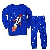 Qtake Fashion - Pijama Dos Piezas - para niño Blue1 4-5 Años