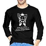 Shirts Keiner Ist unnütz.Von Wicki_de Langärmliges Herrenhemd T-Shirt Schwarz Frühling und Herbst Jugend Männer Slim Cotton T-Shirt